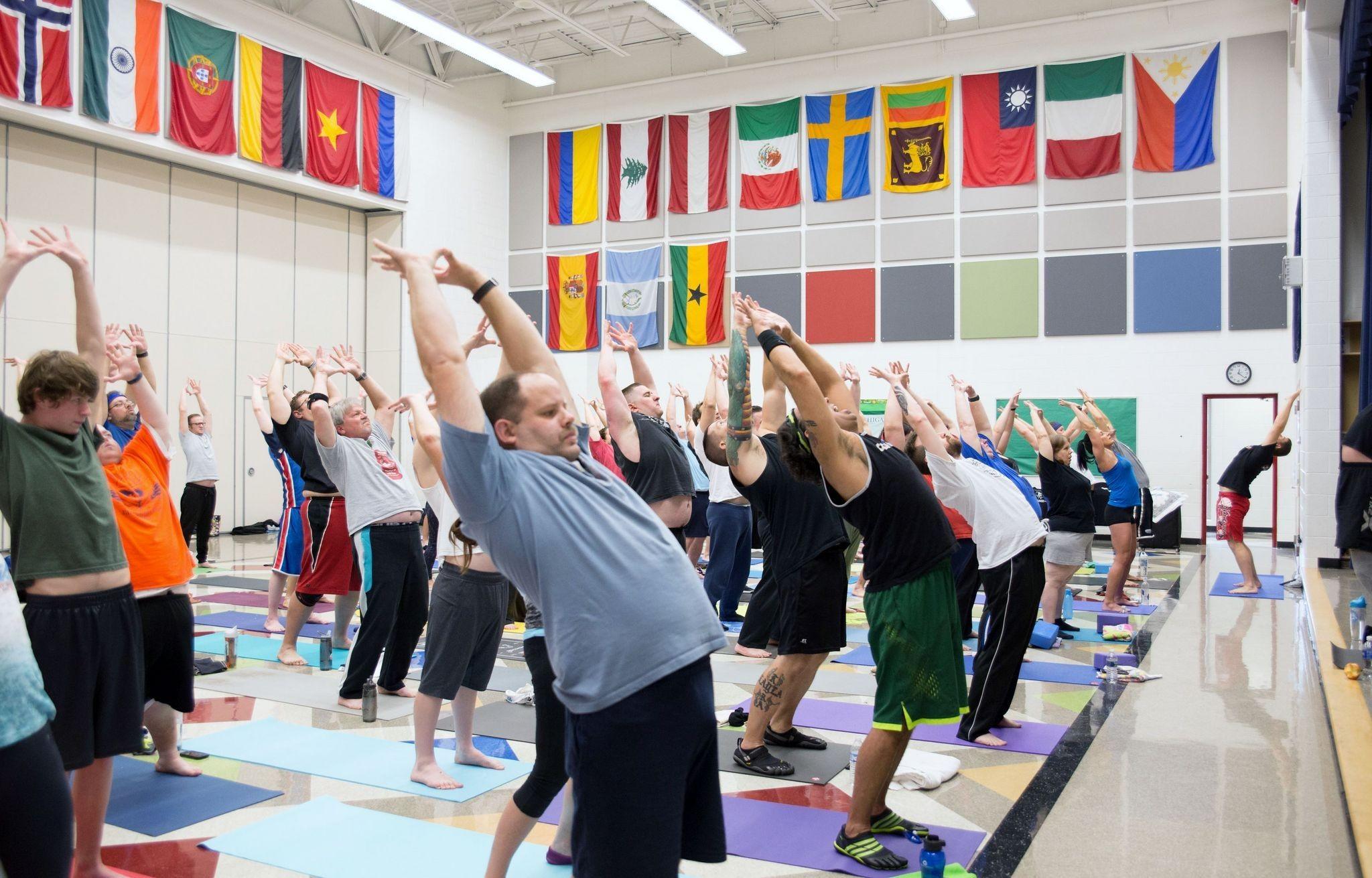 Diamond Dallas Page Teaches Workshop Gives Speech At Ddp Yoga Seminar Mlive Com