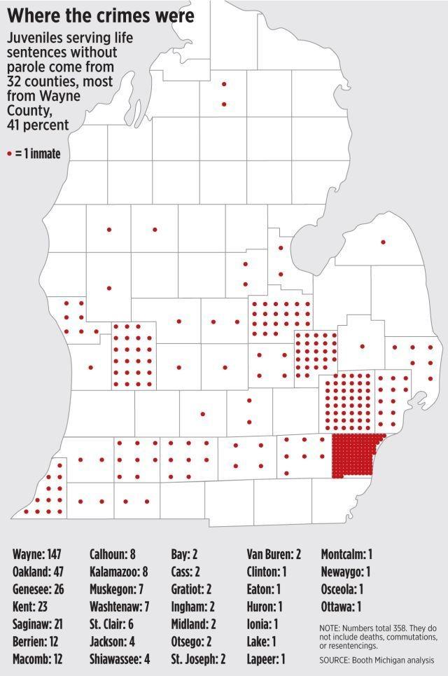 Why Michigan has more juvenile life sentences than almost