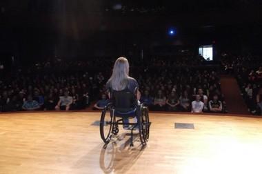 Ford speaks to students in Hershey, Penn., at Milton Hershey High School in September 2012.