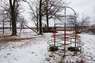 "Oak Park in Flint was rated ""poor"" condition for the basketball court, tennis court and playground in a 2010 Flint parks assessment. The survey noted that the park is ""creepy"" and ""uninviting."""