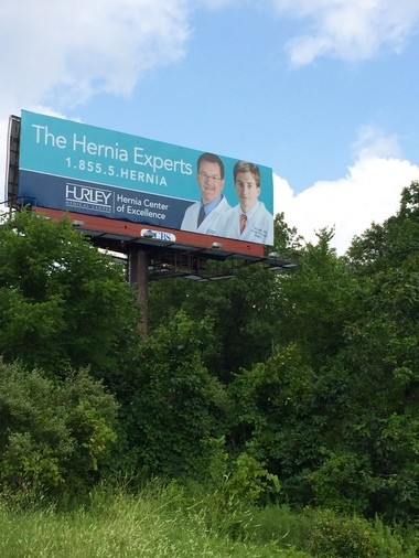 A year after Hurley Medical Center's Hernia Center of Excellence opened, officials saw an influx in patients. But there was one advertising tool that was surprising -- a billboard.