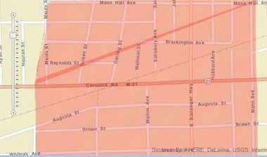 This is the area in which a boil water advisory is in effect on the west side of the city of Flint.