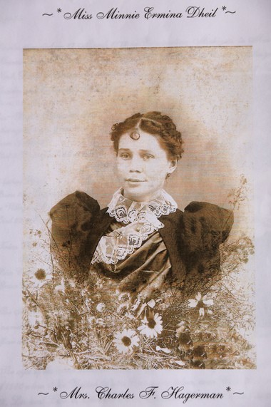 A photo of Ermina Hagerman. Kaye Stewart of Plainwell, Mich. searched for the graves of her lost relatives, Rice and Grace Hagerman, the children of her great-grandmother, and was able to trace them to unmarked graves in Glenwood Cemetery in Flint, where they were buried more than 100 years ago.