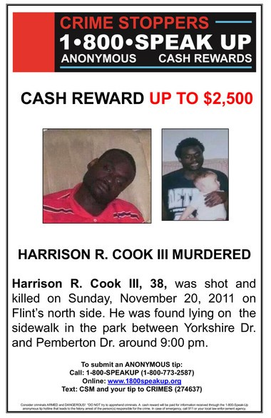 Family asks for information in 2011 slaying of Harrison Cook