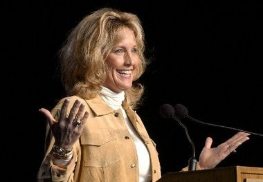 Erin Brockovich speaks at Grand Valley State University in this MLive-Grand Rapids Press file photo.
