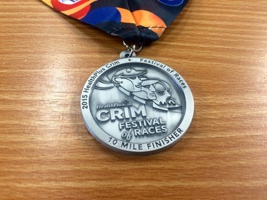 Here's a first look at the 2015 medal for the HealthPlus Crim Festival of Races 10-Mile race.