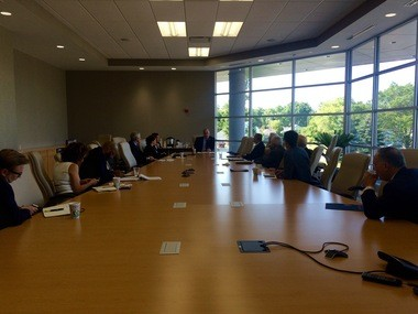 U.S. Rep. Dan Kildee, D-Flint Township, held a roundtable discussion with 15 college leaders Thursday, Aug. 13, 2015, at Baker College of Flint.