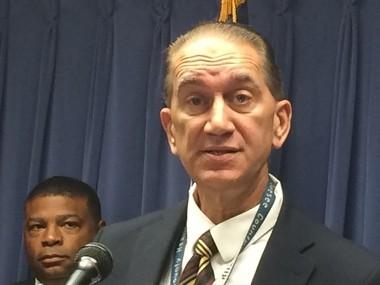 Genesee County Health Officer Mark Valacak speaks during a news conference last week.