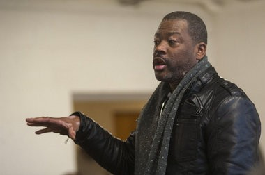 Flint resident Quincy Murphy asks a question during a February 2015 public forum on Flint water. Murphy has been appointed to serve on the Flint Charter Review Commission.