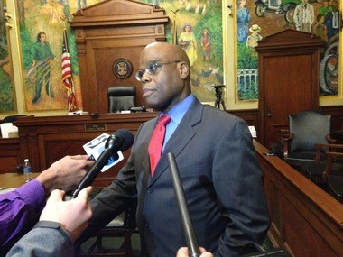 Attorney Val Washington spoke to reporters Tuesday, Dec. 22 following a ruling finding the city of Flint is in compliance with only some aspects of an injunction ordered by Circuit Court Judge Archie Hayman.
