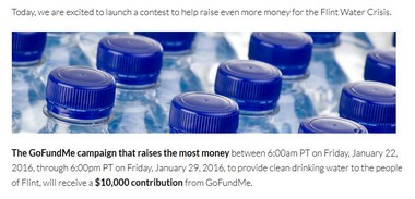 GoFundMe has started a contest that will give $10,000 to the campaign that raises the most money for residents affected by the Flint water crisis.