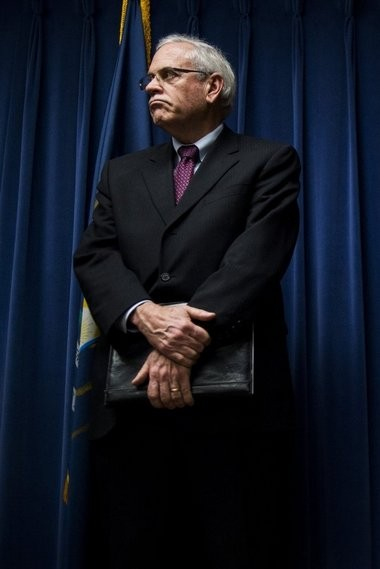Jerry Ambrose was appointed as Flint's fourth emergency manager by Gov. Rick Snyder on Tuesday, Jan. 13, 2015. He is shown in Flint City Hall in this Flint Journal file photo.