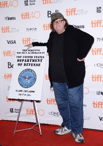 """Michael Moore attends the """"Where to Invade Next"""" premiere on Thursday, Sept. 10, of the Toronto International Film Festival at The Princess of Wales Theatre in Toronto."""