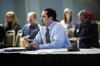 Mike Glasgow, Flint's utilities director, speaks to a special committee of the Michigan Legislature in this file photo.