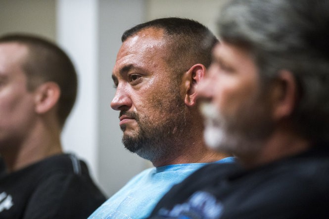 "Scott Daup, 37, attends the Genesee County Adult Felony Drug Court on Monday, Oct. 9, 2017, in District Court in downtown Flint. After struggling with addiction for nearly 20 years, Daup says the court has helped him lay the foundation of a stable, sober life. ""Incarceration doesn't keep people clean"" over the longterm, he said. ""I'm not going to get the help I need sitting behind bars."" Terray Sylvester 