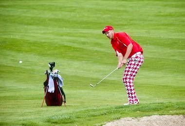 Swartz Creek High School senior golfer Logan Hull shot a 75 during a Metro League golf tournament at Copper Ridge Golf Course in Davison on Monday, May 23.