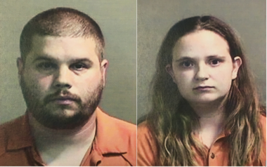 George Bingaman, left, and Destiny Bingaman are shown in photos provided by the Genesee County Sheriff's Office.