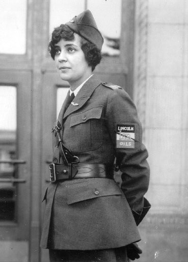 Mildred Doran is shown in this submitted photo, wearing her classic aviator uniform. Doran and a crew disappeared during an airplane race to Hawaii in 1927, a story retold in a new book.
