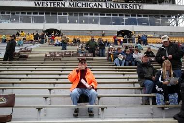 A fan at a Western Michigan University game.