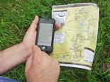 While paper maps show the trail and surroundings, a new digital map app developed by Matt Rowbotham and the North Country Trail Association also shows a hikers position and progress on the trail.