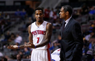 Detroit Pistons point guard Brandon Jennings (7) struggled last year to get past the February firing of former coach Maurice Cheeks.