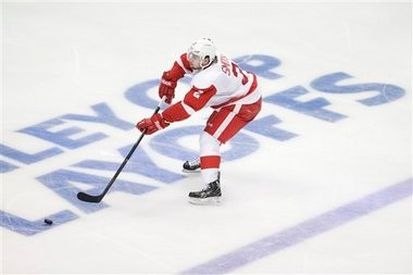 Red Wings defenseman Brendan Smith is not concerned about putting up points as much as he is about keeping the puck out of his net.