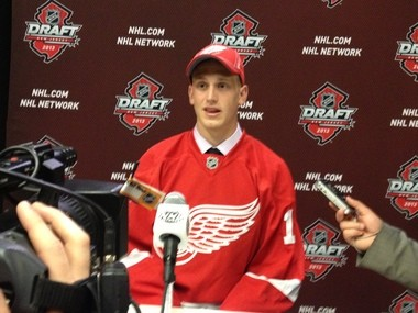 Red Wings' 2013 top pick Anthony Mantha lead the QMJHL league with 50 goals in 2012-13.