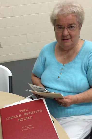 Sue Harrison, who co-authored the History of Cedar Springs, is also a long time member of the United Methodist Church that is celebrating 150 years in the area.