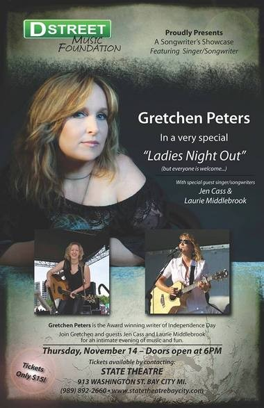 Singer-songwriter Gretchen Peters brings 'good songs' to Bay City's