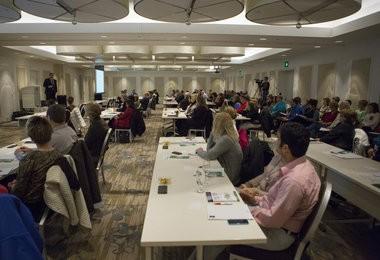 Event-goers listen to Dr. Kevin Sabet speak at the H Hotel in Midland, November 18, 2014. Coty Giannelli   Mlive.com