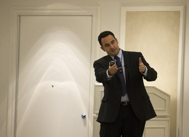 Kevin Sabet, a former drug policy adviser for president's Clinton, Bush and Obama, speaks to a group of people at the H Hotel in Midland, November 18, 2014. Coty Giannelli   Mlive.com