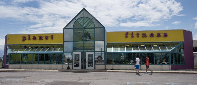 Jeff Schrier | Mlive.com Planet Fitness' parent company and the Planet Fitness franchise in Midland (pictured here) have filed motions to dismiss a lawsuit pertaining to the fitness center chain's transgender-friendly locker room policy.