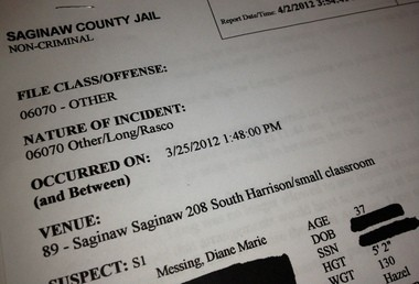 Police report: Attorney suing Saginaw County kissed, hugged female