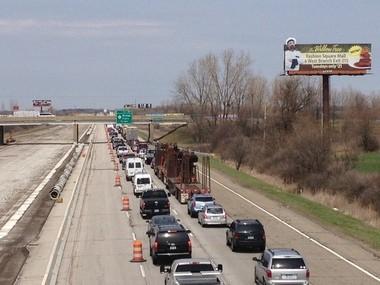Traffic alert: Crash on I-75 partially blocks northbound