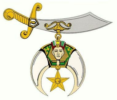 """The logo for the Ancient Arabic Order of Nobles of the Mystic Shrine, known commonly as """"Shriners."""""""