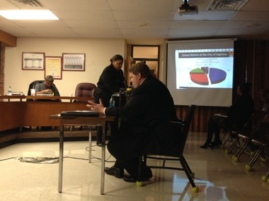 Dave Youngstrom, a CPA from Yeo & Yeo, a Saginaw-based consulting firm, gave a presentation about Saginaw School District's annual audit on Nov. 6 at a school board meeting.
