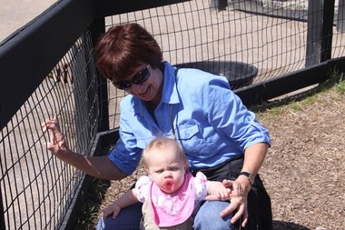 Judy Porter with her granddaughter in 2010.