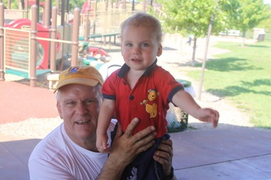 Robert Porter with his grandson in 2010.
