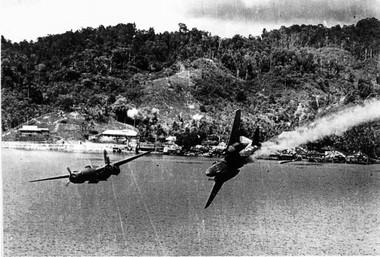 Photo taken of a plane within Edward Moll's squadron taken towards the end of 1944.
