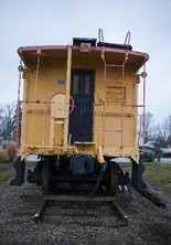 Neil Barris   Mlive.com The front of a new caboose that sits outside of the St. Charles Area Museum, 603 Chesaning St. in St. Charles, Tuesday, Dec. 16, 2014.
