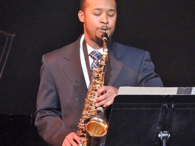 "Saginaw saxophonist Morgan McMillon was one of many who shared their talents Sept. 25 at the FNI gala ""Field of Hope, Sounds of the Valley"" at the Temple Theatre."