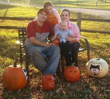 Chad and Haley Deming with his12-year-old daughter Rebecca and their one-year-old son Blake. (Courtesy Photo/Sherry Wilson)