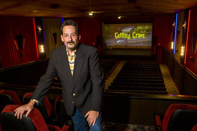 """Mark Rupp, producer of the film """"Getting Grace,"""" poses for a portrait inside of the Court Street Theatre on Tuesday, May 1, 2018. Henry Taylor 