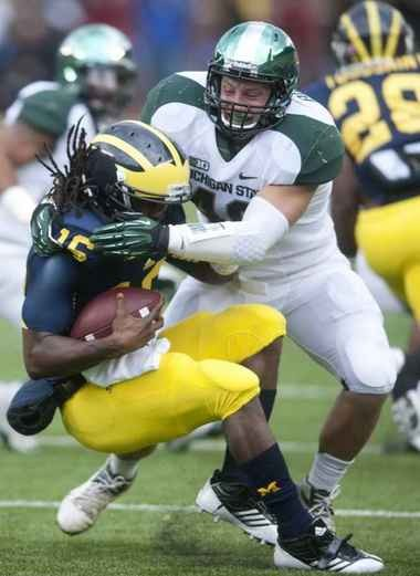 Michigan State middle linebacker Max Bullough won a very narrow vote as the No. 1 pick among returning Spartan and Michigan Wolverines players.