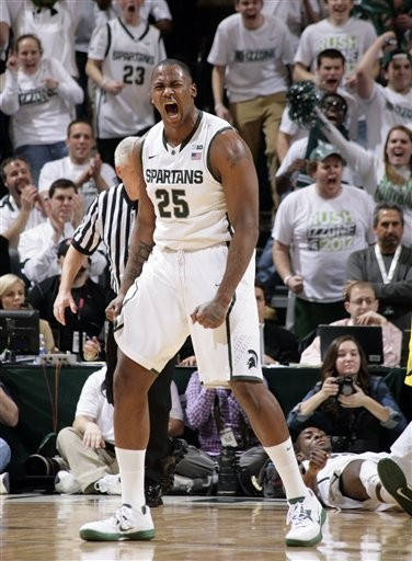 Michigan State senior center Derrick Nix was dominant in the Spartans' 75-52 win over Michigan on Tuesday night, his final game against the Wolverines at Breslin Center.