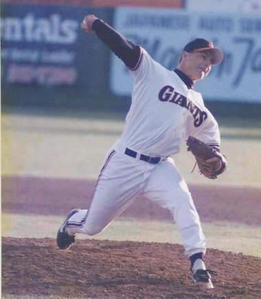 Mike Villano delivers a pitch during his days with the San Francisco Giants organization.