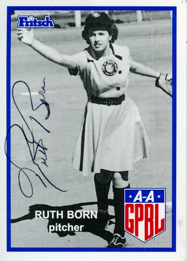 Bay City native Ruth Born played in the AAGPBL for the South Bend Blue Sox in 1943.