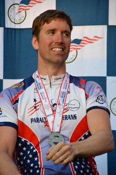 Bay City native Brian Sheridan at the 2014 nationals. Sheridan competes in paracycling with Team USA. (Courtesy photo)