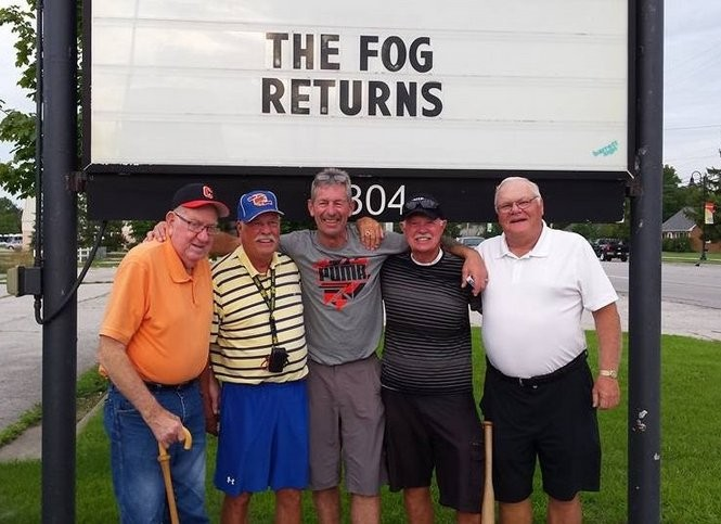 "From left: Jimmy Doyle, Bob Stewart, Owen ""The Fog"" Walford, Tuck Bedford and Tom Stasik."