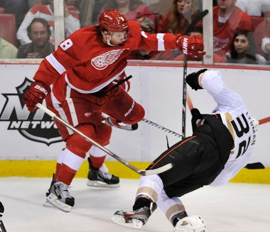 Detroit's Justin Abdelkader was suspended for Games 4 and 5.